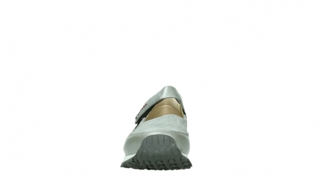 wolky mary janes 05805 e step 87130 silver grey pearl stretch leather_7