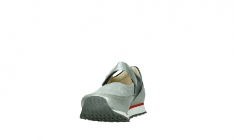 wolky mary janes 05805 e step 87130 silver grey pearl stretch leather_8