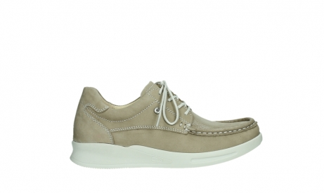 wolky lace up shoes 05901 one 10390 beige stretch nubuck_1