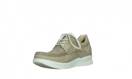 wolky lace up shoes 05901 one 10390 beige stretch nubuck_10