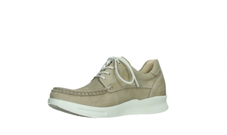 wolky lace up shoes 05901 one 10390 beige stretch nubuck_11