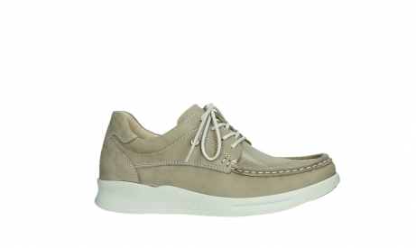 wolky lace up shoes 05901 one 10390 beige stretch nubuck_2