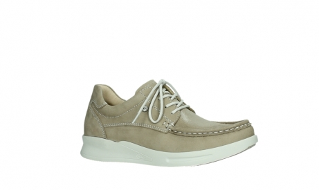 wolky lace up shoes 05901 one 10390 beige stretch nubuck_3