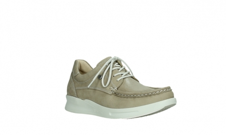 wolky lace up shoes 05901 one 10390 beige stretch nubuck_4