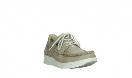 wolky lace up shoes 05901 one 10390 beige stretch nubuck_5