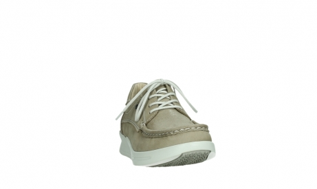 wolky lace up shoes 05901 one 10390 beige stretch nubuck_6