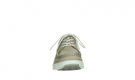 wolky lace up shoes 05901 one 10390 beige stretch nubuck_7