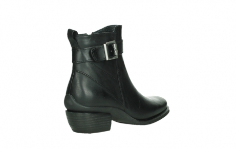 wolky ankle boots 00407 bronson 30000 black leather_22