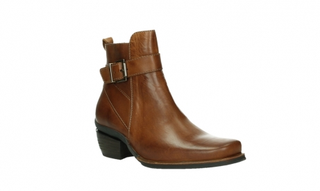 wolky ankle boots 00407 bronson 30430 cognac leather_4