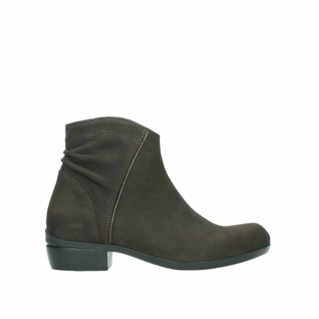 wolky ankle boots 00952 winchester 13305 dark brown nubuck