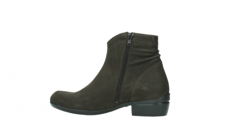 wolky ankle boots 00952 winchester 13305 dark brown nubuck_14