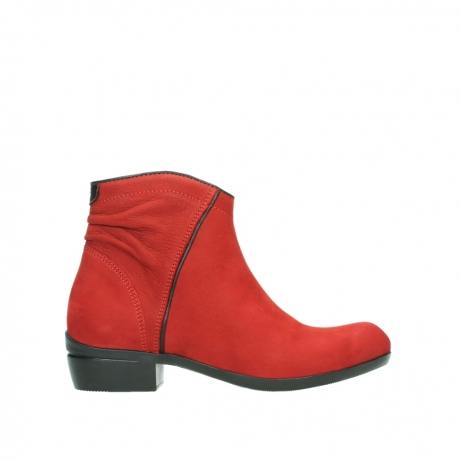 wolky ankle boots 00952 winchester 13505 dark red nubuckleather