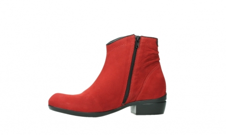 wolky ankle boots 00952 winchester 13505 dark red nubuckleather_12