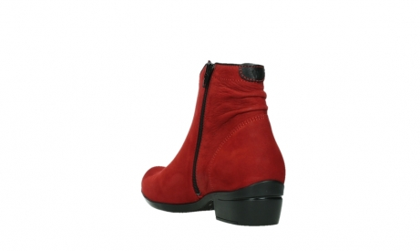 wolky ankle boots 00952 winchester 13505 dark red nubuckleather_17
