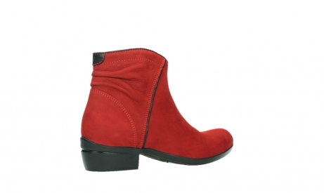 wolky ankle boots 00952 winchester 13505 dark red nubuckleather_23