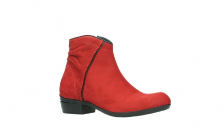 wolky ankle boots 00952 winchester 13505 dark red nubuckleather_3