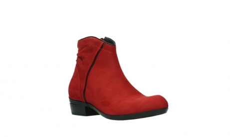 wolky ankle boots 00952 winchester 13505 dark red nubuckleather_4