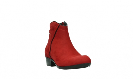 wolky ankle boots 00952 winchester 13505 dark red nubuckleather_5