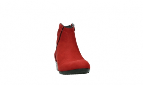 wolky ankle boots 00952 winchester 13505 dark red nubuckleather_6