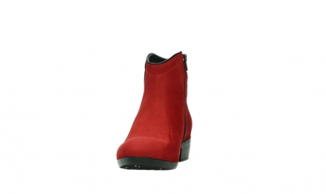 wolky ankle boots 00952 winchester 13505 dark red nubuckleather_8