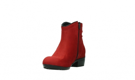 wolky ankle boots 00952 winchester 13505 dark red nubuckleather_9