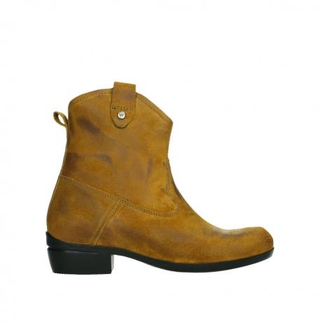 wolky ankle boots 00960 finley 45925 dark ocher suede