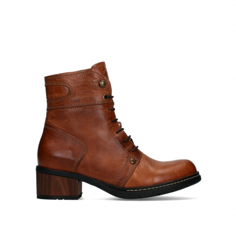 wolky ankle boots 01263 red deer cw 30430 cognac leather