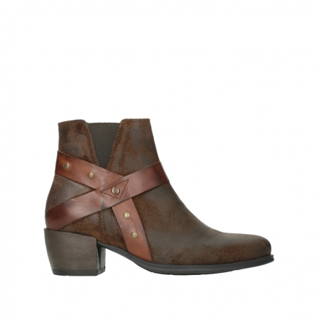 wolky ankle boots 02875 silio 45410 tobacco suede