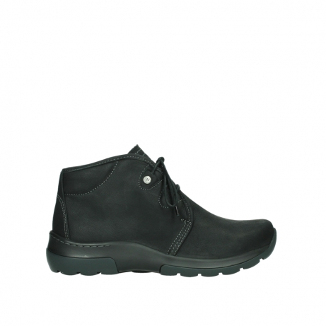 wolky lace up boots 03025 dub 11001 black nubuck
