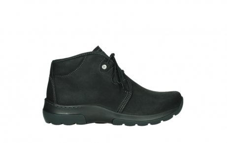 wolky lace up boots 03025 dub 11001 black nubuck_1