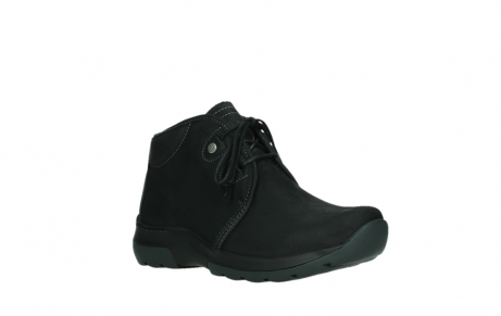wolky lace up boots 03025 dub 11001 black nubuck_4