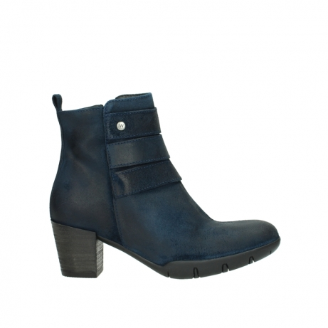 wolky ankle boots 03677 willmore 40801 blue suede