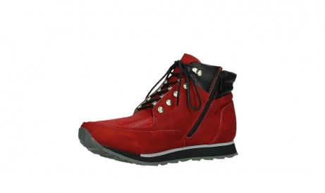 wolky lace up boots 05808 e funk 11505 darkred stretchleather_11