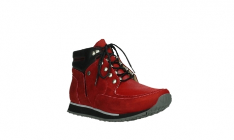 wolky lace up boots 05808 e funk 11505 darkred stretchleather_4