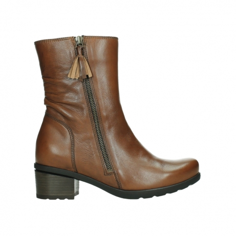 wolky ankle boots 07501 skytree 20430 cognac leather