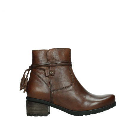 wolky ankle boots 07504 macau 20430 cognac leather