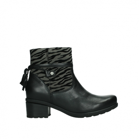 wolky ankle boots 07504 macau 28000 black effect leather