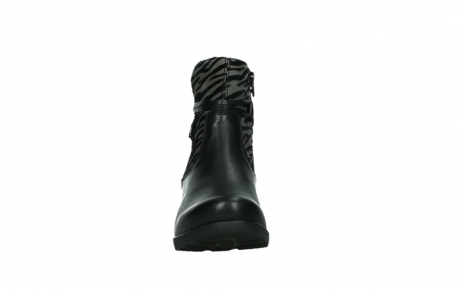 wolky ankle boots 07504 macau 28000 black effect leather_7