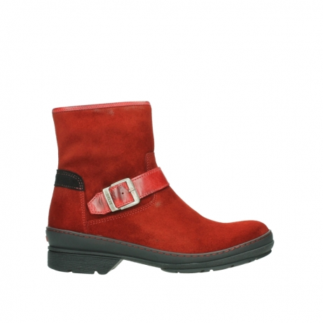 wolky ankle boots 07641 nitra 45505 darkred suede