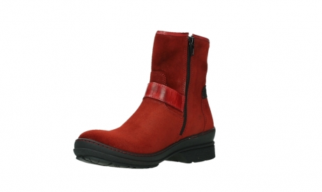 wolky ankle boots 07641 nitra 45505 darkred suede_10