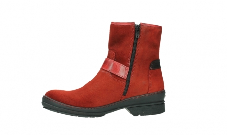 wolky ankle boots 07641 nitra 45505 darkred suede_12