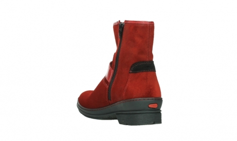 wolky ankle boots 07641 nitra 45505 darkred suede_17