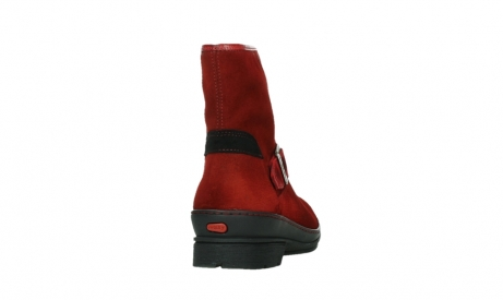 wolky ankle boots 07641 nitra 45505 darkred suede_20
