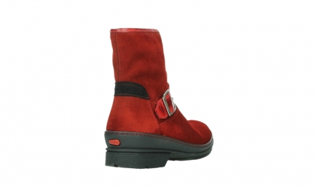 wolky ankle boots 07641 nitra 45505 darkred suede_21