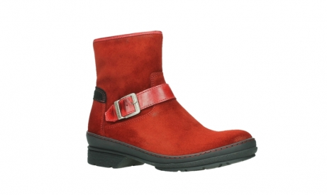 wolky ankle boots 07641 nitra 45505 darkred suede_3