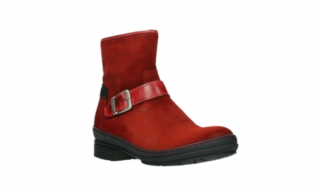 wolky ankle boots 07641 nitra 45505 darkred suede_4