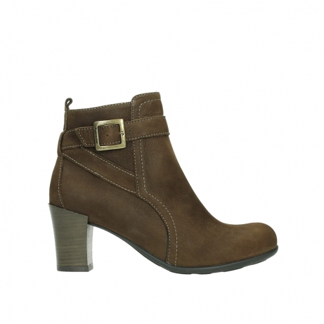 wolky ankle boots 07749 raquel 13410 tabaccobrown nubuckleather