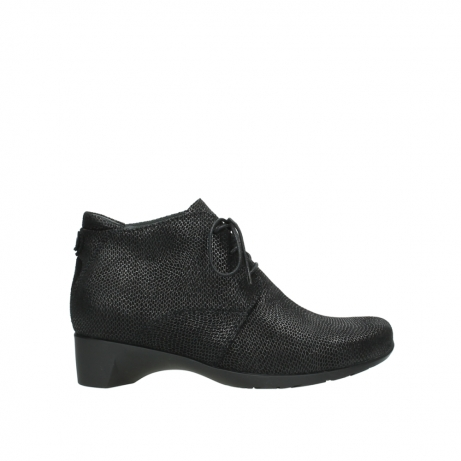 wolky ankle boots 07821 zircon 71000 black leather