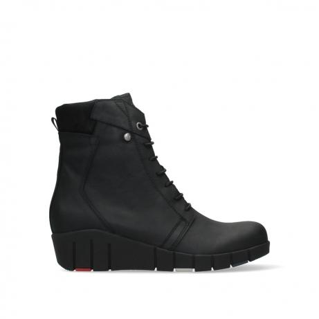 wolky ankle boots 01775 portland 10000 black nubuck