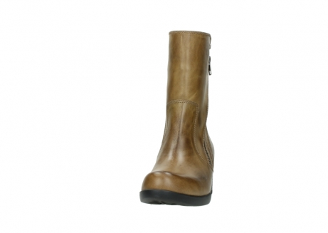wolky mid calf boots 01376 rialto 30920 ocher yellow leather_20